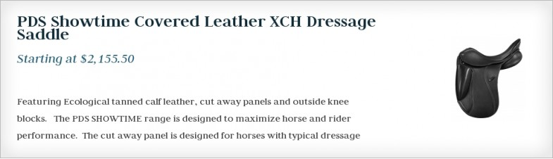 PDS Showtime Covered Leather XCH Dressage Saddle