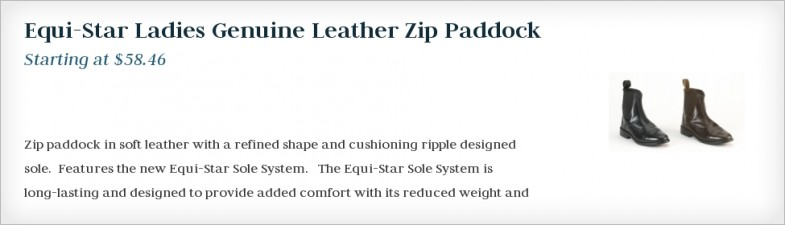 Equi-Star Ladies Genuine Leather Zip Paddock